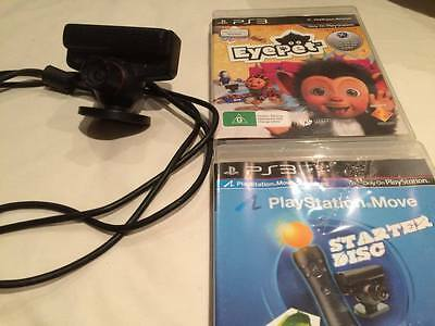 Genuine Official PS3 Camera PS Eye With 2 Games