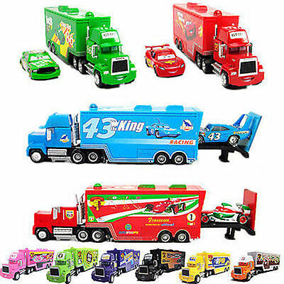 NEW!Disney Pixar CARS King/Chick Hicks/Francesco/43/95/86/MACK HAULER Truck Toy