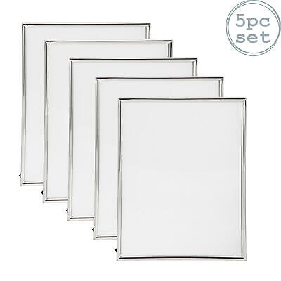 Nicola Spring Silver Metal 4x6 Photo Picture Frame - Standing - Pack Of 5