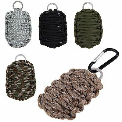 Outdoor Camping Hiking Climbing Survival Emergency Paracord Carabiner Tools Kit