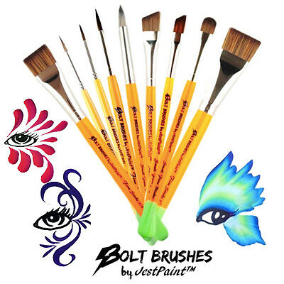 BOLT Face Paint Brushes by Jest Paint