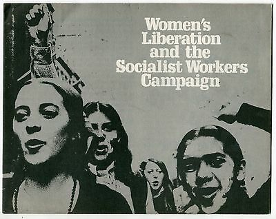 """1972 Political Brochure: """"Women's Liberation & The Socialist Workers Campaign"""""""