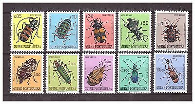 s16076) GUINE PORTUGUESA MNH** 1953 Insects 10v