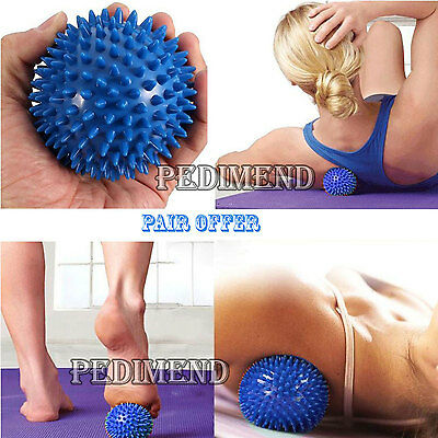 2x PEDIMEND SPIKY MASSAGE BALLS for Foot Pain Relief - Stress Relief Therapy
