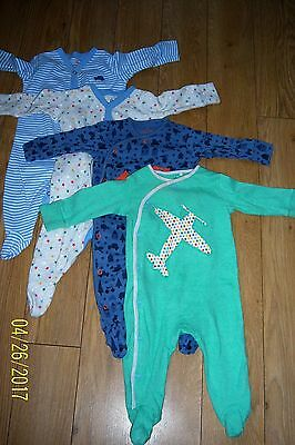 Baby Boys Next Babygrows X4 Age 3-6 Months