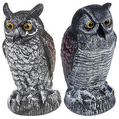 Large Realistic Owl Decoy Bird Pigeon Scarecrow Pest Repel Garden Protection