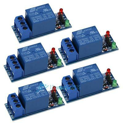 5Pcs 12V 1 Channel Relay Module Optocouple Board Shield for PIC AVR DSP ARM New