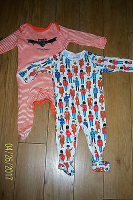 Baby Boys  Babygrows X2 Age 3-6 Months