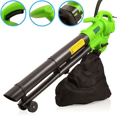NEW 3in1 35 LITRE 3000w ELECTRIC GARDEN LEAF BLOWER VACUUM SHREDDER MULCHER TOOL