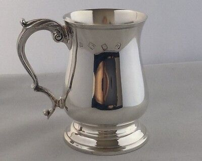Elizabeth II Sterling Silver Half Pint Mug or Tankard, London 1968, 247.0g