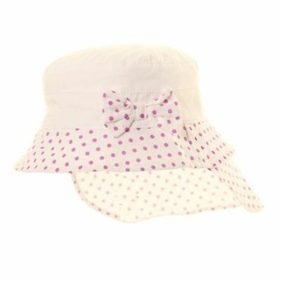Girls Spotty Wide Brim Bush Sun Hat with Legionnaire Cap Style Neck Covering