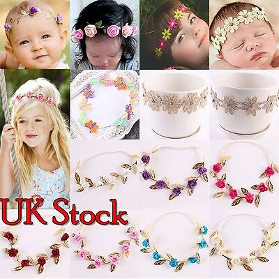 Baby Girls Flower Hairband Soft Elastic Headband Gifts Hair Band Accessories New