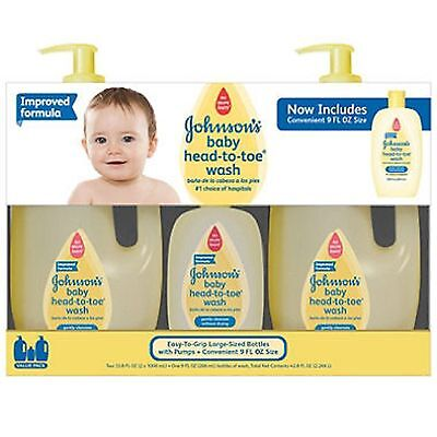 Johnson's Baby Head-to-Toe Wash (2 - 33.8 fl. oz., 1 - 9 fl. oz)