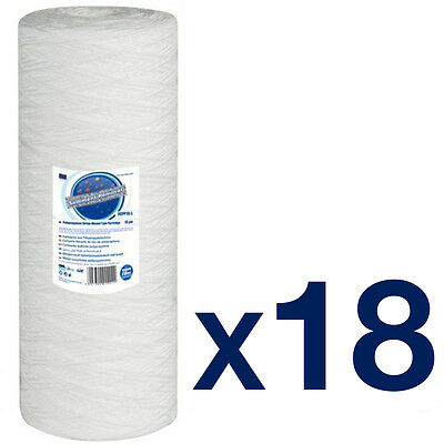 "18pk 20 Micron Sediment Jumbo filter Wound 10"" Water Filter"