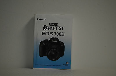 Canon Rebel T5i EOS 700D Genuine Instruction Owners Manual Book