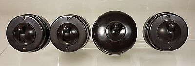 ORIGINAL VINTAGE 1930s CRABTREE BAKERLITE SWITCHES