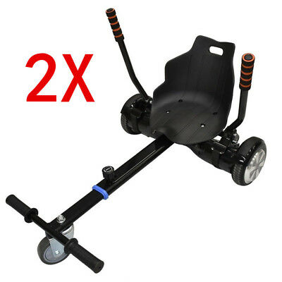 "2x Attachment Kart Go Kart Seat Holder for 6.5"" 8"" 10"" Two wheel balance Scooter"
