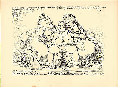 1873 james gillray ( the caricaturist ) print . rich pickings - noble appetite