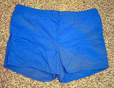 "Vintage Blue Winners Brand Swimming Trunks - Nylon - Large 38-40 - 15"" Length"