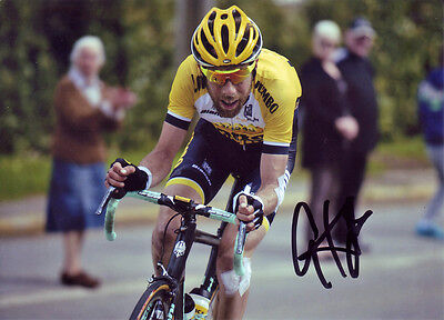Laurens ten Dam Signed 5X7 inches Tour De France Lotto Jumbo Team Photo