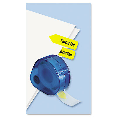 """Arrow Message Page Flags in Dispenser, """"Notarize"""", Yellow, 120 Flags/Dispenser"""