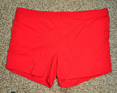 "Vintage St Johns Bay Red Short Swimming Trunks - Nylon - L 36-38 - 15"" Length"