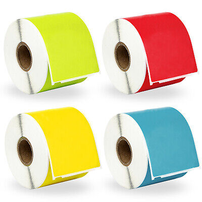 4 Rolls; 1 Roll of RED YELLOW GREEN And BLUE Shipping Labels For DYMO® 30256