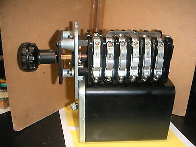 GENERAL ELECTRIC GE ROTARY SWITCH 16SB1CA7X2 TYPE SB-1 (3 independent circuits)