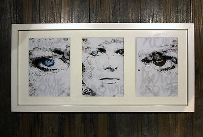 Limited Edition 'BOWIE REBEL' Art Print - Framed, Mounted, Numbered