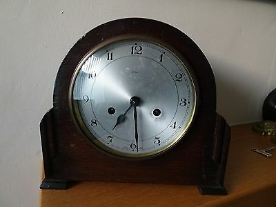 Vintage  Enfield Mantle Clock with key (faulty)