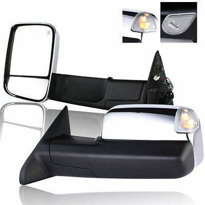 Brand new Set 2013-2017 Ram Truck Chrome power heated with signal towing mirrors