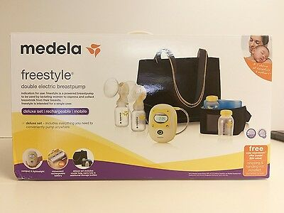 Medela Freestyle Hands-Free Double Electric Breast Pump Cooler Bag Tote (blk11)
