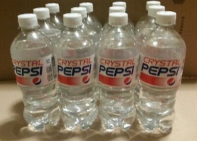Crystal Pepsi (12) 20oz. Bottles  Unopened, Exp. March 2017 RARE