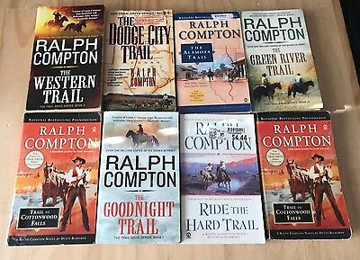 Lot of 8 Ralph Compton Westerns-The Trail Series