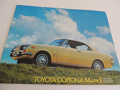 Toyota Corona MKII Brochure Catalogue for 1971 & 72