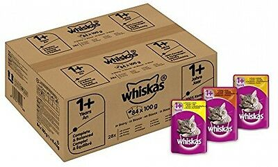 84x Whiskas Wet Cat Food Adult Mixed Selection in Gravy - FREE SAME DAY SHIPPING