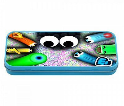 Slitherio Gamers Pencil Case Tin Pink / Blue Perfect 4 School / Home Youtubers