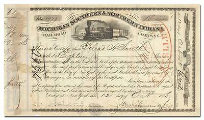 Michigan Southern & Northern Indiana Rail-Road Company Stock Certificate (1855)