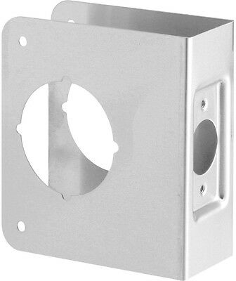 Door Reinforcement Plate Security 1-3/4 in. Thick Stainless Steel Recessed New