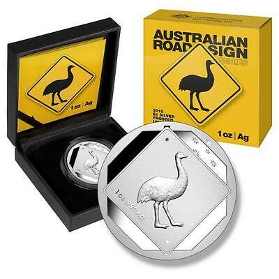 2015 Emu – Australian Road Sign Series $1 Uncirculated Silver Frosted Coin