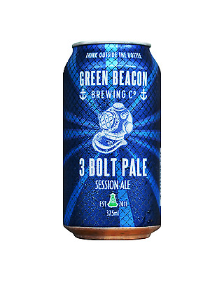 Green Beacon Brewing Co 3 Bolt Pale Ale Cans 375mL case of 24 Craft Beer