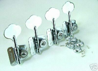 Bass Tuners Chrome Wilkinson Open Frame 4 in Line