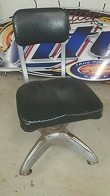 Vintage 1949 General Fireproofing Goodform Aluminum Adj. Rolling Office Chair
