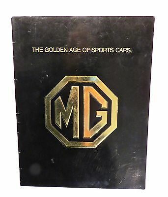 """Two MG """"Golden Age Of Sports Cars"""" Brochures From 1975, Deluxe Version & Trifold"""