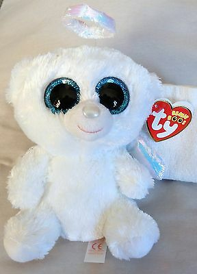 Halo The Angel Bear (6 inch) Ty Beanie Boo - NEW with MINT tags