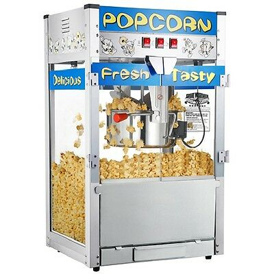 Movie Theater Popcorn Machine 12 oz kettle Big Heavy Duty Commercial Quality