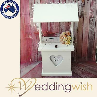 White Wishing Well - Timber with Personalised Window - Wedding Engagement