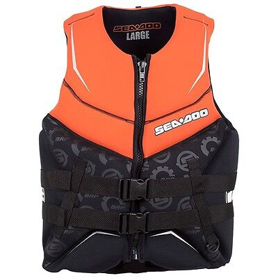 SEADOO PDF2 Orange Freewave Life Jacket/Vest Level 50 - PWC - JET SKI