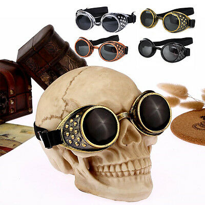 Retro Punk Brille SteamPunk Schweißerbrille Sonnenbrielle Cosplay Goggles Party