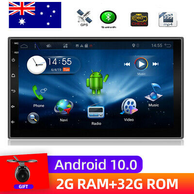 """7"""" Double 2 DIN Android 6.0 Stereo HD GPS Navigatio Car Radio Player WIFI BT SWC"""